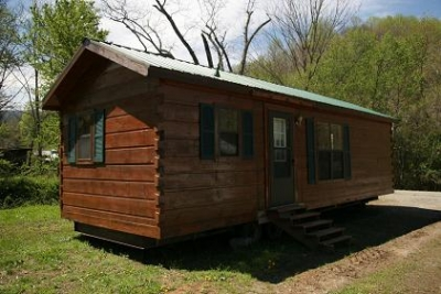 Log cabin park model only 26 800 free rv for Rv log cabins